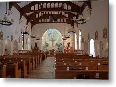 Metal Print featuring the photograph A Church Is Really Never Empty by Monte Stevens