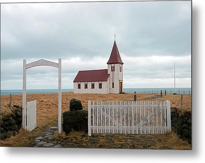 Metal Print featuring the photograph A Church With No Fence by Dubi Roman