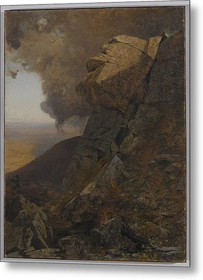 A Cliff In The Katskills Metal Print by MotionAge Designs
