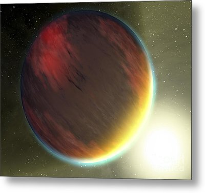 A Cloudy Jupiter-like Planet That Metal Print by Stocktrek Images