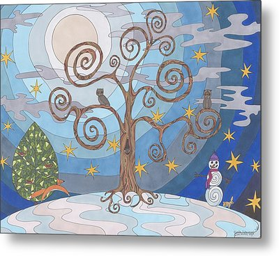 A Cold Winters Night Metal Print