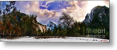 A Cold Yosemite Half Dome Morning Metal Print