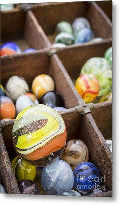 A Collection Of Marbles Metal Print
