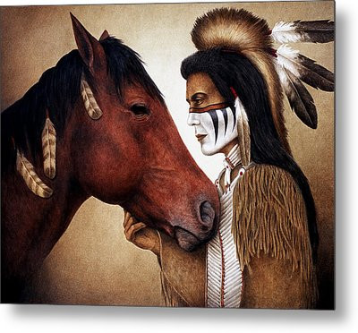 A Conversation Metal Print by Pat Erickson