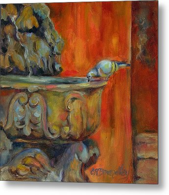 Metal Print featuring the painting A Cool Drink by Chris Brandley