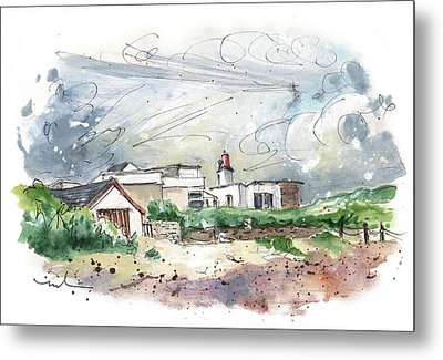 A Cottage By The Beach In Anglesey Metal Print