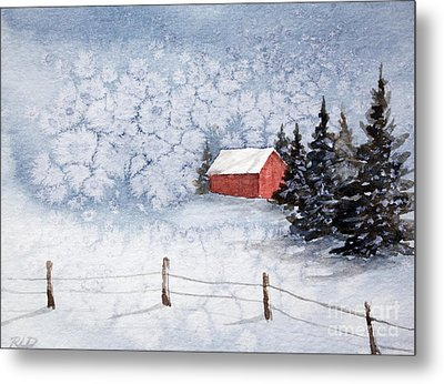 A Country Winter Metal Print