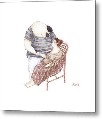 A Cup Of Love Tea Metal Print by Soosh
