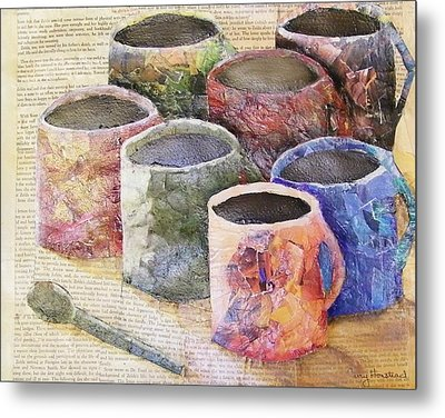 A Cuppa Metal Print by Terry Honstead