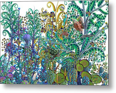 A Curious World Metal Print by Betsy Knapp