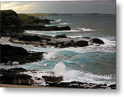 A Dangerous Coastline Metal Print
