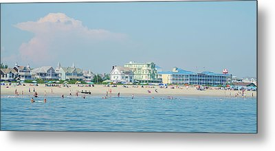 Metal Print featuring the photograph A Day At The Beach - Cape May New Jesey by Bill Cannon