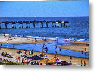 A Day At The Beach Metal Print by Dave Bosse