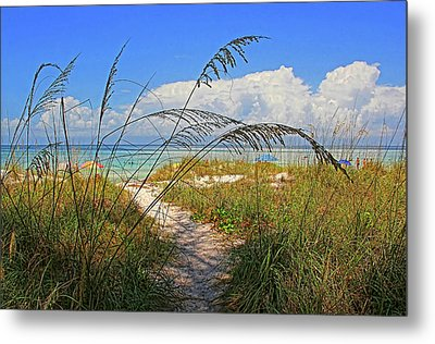 A Day At The Beach Metal Print by HH Photography of Florida