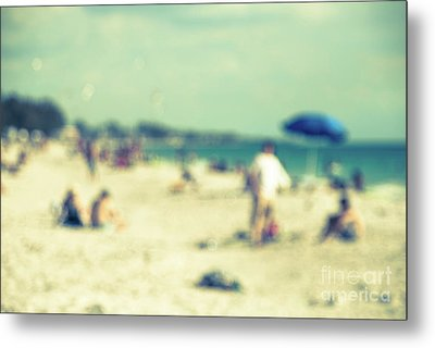 Metal Print featuring the photograph a day at the beach I by Hannes Cmarits