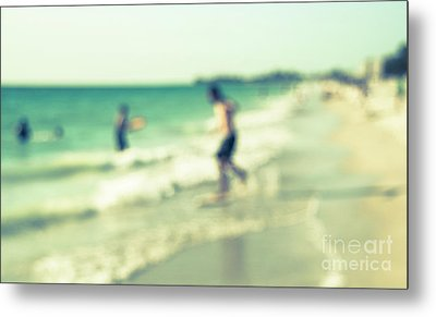 Metal Print featuring the photograph a day at the beach III by Hannes Cmarits