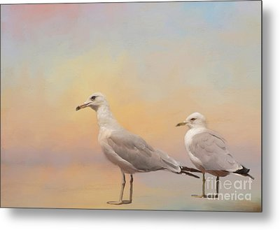 A Day At The Beach Metal Print by Kathleen Rinker