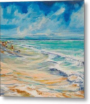 A Day At The Beach Metal Print by Michele Hollister - for Nancy Asbell