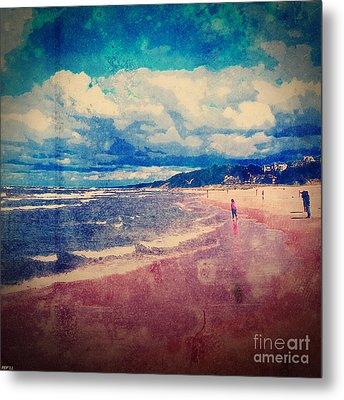 Metal Print featuring the photograph A Day At The Beach by Phil Perkins