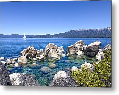 A Day At The Lake Metal Print by Janet Fikar