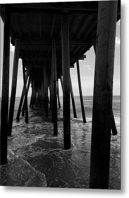 Metal Print featuring the pyrography A Day At Virginia Beach #2 by Rebecca Davis