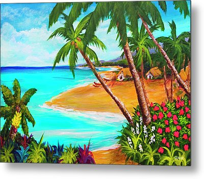 A Day In Paradise Hawaii #359 Metal Print by Donald k Hall