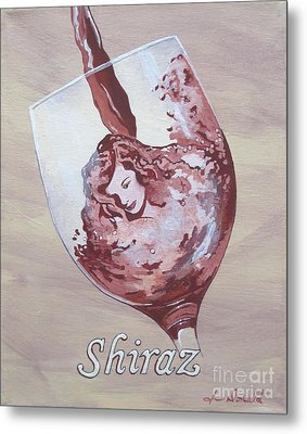 A Day Without Wine - Shiraz Metal Print by Jennifer  Donald
