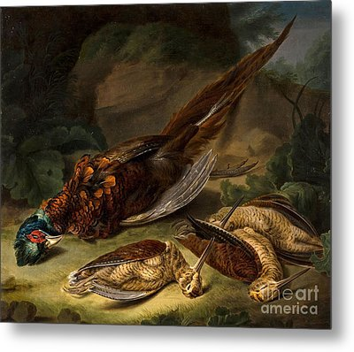 A Dead Pheasant Metal Print by MotionAge Designs