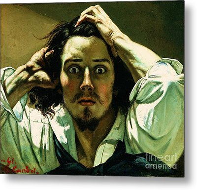 A Desperate Man Metal Print by Pg Reproductions