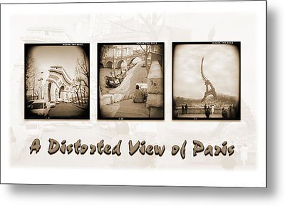A Distorted View Of Paris Metal Print