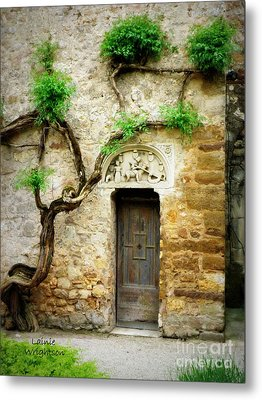 A Door In The Cloister Metal Print by Lainie Wrightson