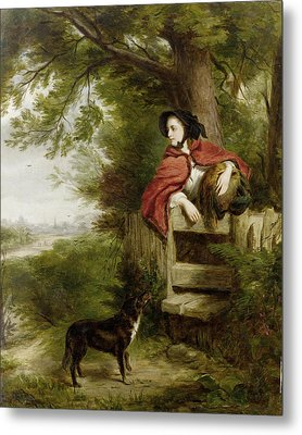A Dream Of The Future Metal Print by William Powell Frith