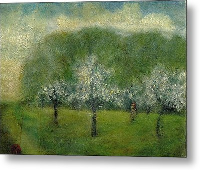 A Dream Of Apple Blossom Time Metal Print
