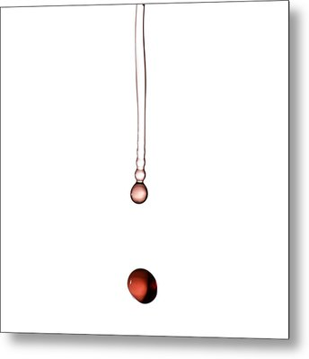 A Drop Of Wine Metal Print