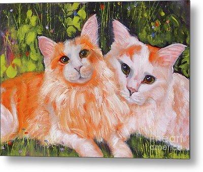 A Duet Of Kittens Metal Print by Susan A Becker