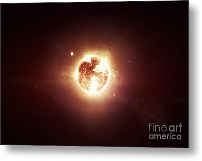 A Dying Star Which Will Soon Give New Metal Print by Tomasz Dabrowski