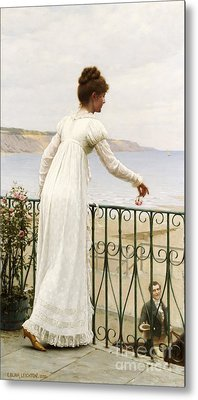 A Favour Metal Print by Edmund Blair Leighton