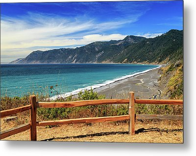 Metal Print featuring the photograph A Fence On The Lost Coast by James Eddy