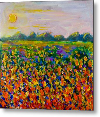 A Field Of Flowers #1 Metal Print