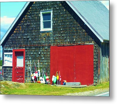 A Fisherman's Barn Metal Print
