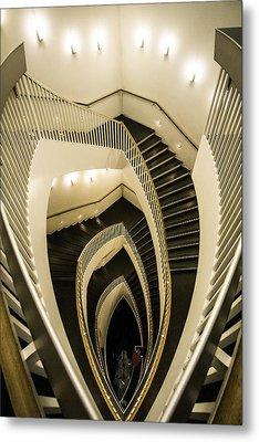A Fisheye Look At The Mca Stairs Metal Print
