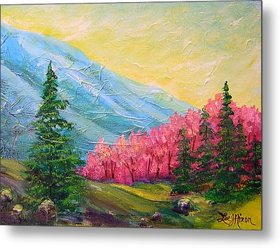 Metal Print featuring the painting A Florid View Of The Blue Ridge by Lee Nixon