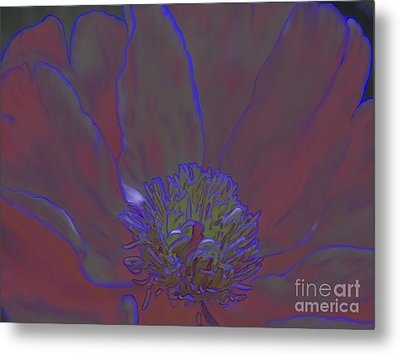 Metal Print featuring the digital art A Flower For Alphonse by Roxy Riou