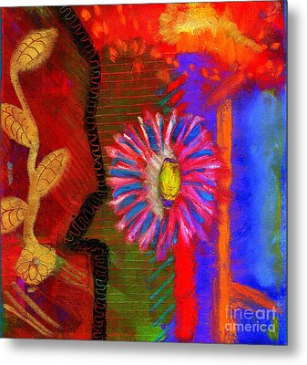 Metal Print featuring the painting A Flower For You by Angela L Walker