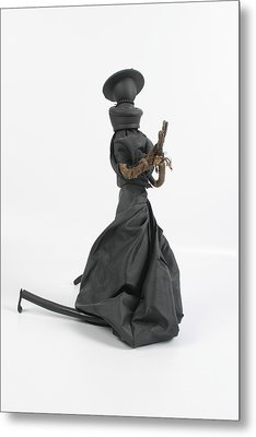 A Frayed Nun The Less Metal Print by Michael Jude Russo