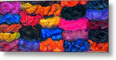A Garden Of Yarn Metal Print by FeatherStone Studio Julie A Miller