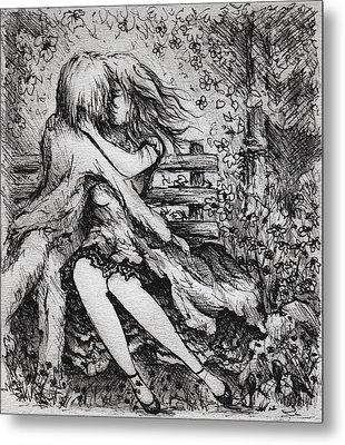 A Garden Romance Metal Print by Rachel Christine Nowicki