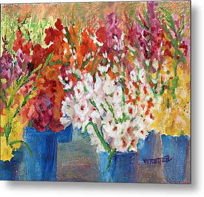A Gladiola Party Metal Print by Jimmie Trotter