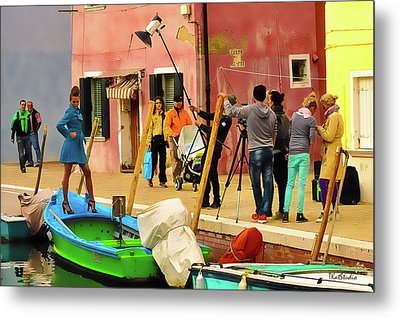 A Glamour Shoot In Burano Metal Print