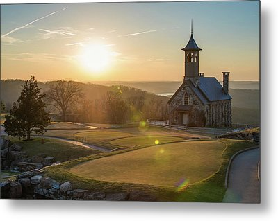 Metal Print featuring the photograph A Golfers Paradise - Top Of The Rock - Branson Missouri by Gregory Ballos